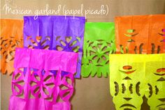 Guirnalda mexicana (colorful cut paper or lace garland)