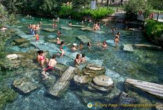 hierapolis-pamukkale | Pamukkale's Antique Pool – A Sacred Pool In Which Cleopatra Is ...