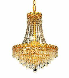 Exquisite Antique Gold Chandelier