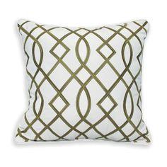 PeakSeason Trellis Embroidery Outdoor Sunbrella Throw Pillow (Set of 2)