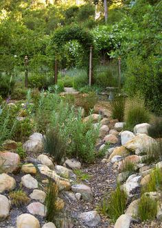 Stones and boulders in garden design