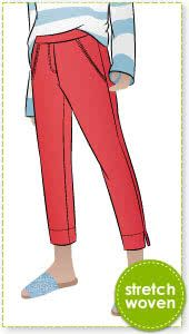 8b7fb752f6a Luna Stretch Pant Sewing Pattern By Style Arc - Pull on stretch pant  featuring a 7