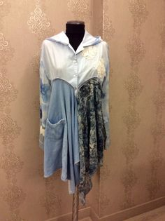 Upcycled Women's Clothing Upcycled Hoodie Tunic Dress by 16October