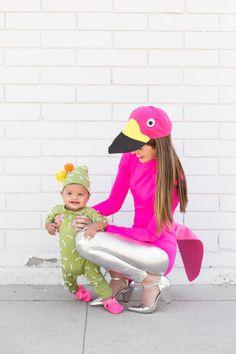 How To Make A Lawn Flamingo Costume + Cactus Baby Costume | studiodiy.com