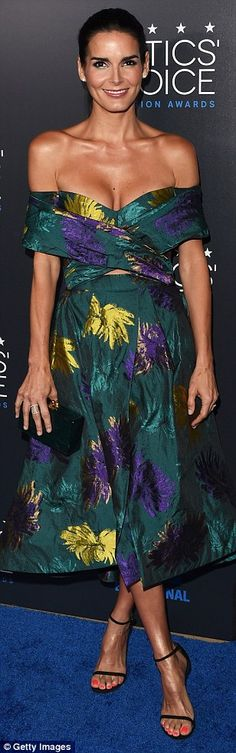 Bombshells: Jaime Pressly, Angie Harmon and Maggie Gyllenhaal all donned revealing gowns at the 5th Annual Critics' Choice Television Awards on Sunday