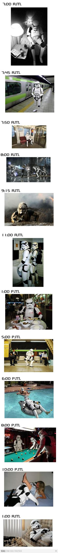 A day in the life of a Stormtrooper..