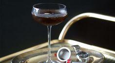 Vodka martini with coffee infusion