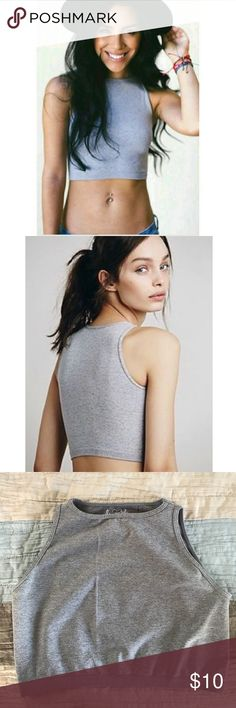 1b589f528dd43a FREE PEOPLE Intimately Gray Crop Top Size M L