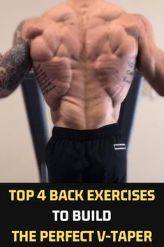 Top 4 Back Exercises To Build The Perfect V-Taper Here are four exercises that I do on every back day without fail. Keep in mind, I've trained back at least three days a week for the past two years. As always, you want to start with the minimum required Fitness Workouts, Ace Fitness, Fitness Motivation, Weight Training Workouts, Muscle Fitness, Mens Fitness, Fun Workouts, At Home Workouts, Health Fitness