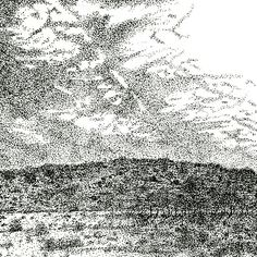 Pen and Ink Karoo Landscape Annie, Tapestry, Ink, Landscape, Hanging Tapestry, Tapestries, Scenery, India Ink, Needlepoint