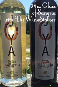 The Wine Stalker had 24oz glass of red sangria - check it out here - http://www.thewinestalker.net/2015/09/joya.html