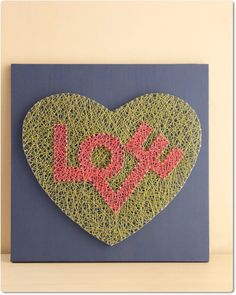 Wall String Art Love in Heart String Wall Art by mintiwall