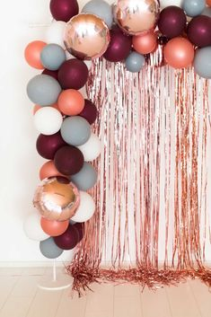Ballon garland berry-gray-rosegold – Miss K. Says Yes party shop – Balloon Decorations 🎈 Ballon garland berry-gray-rosegold – Miss K. Says Yes party shop Ballon garland berry-gray-rosegold – Miss K. Says Yes party shop , Wedding Wall Decorations, Graduation Decorations, Decoration Party, Arch Decoration, Birthday Party Decorations Diy, Garland Wedding, Diy Debut Decorations, 14 Birthday Party Ideas, 30th Birthday Ideas For Women