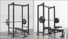 Rogue R3 and RML-3 Power Racks side-by-side