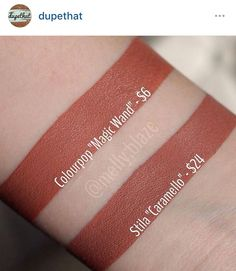 Amazing comparison by Tag your dupes with for a chance to be featured by dupethat Skincare Dupes, Drugstore Makeup Dupes, Beauty Dupes, Makeup Swatches, Beauty Makeup, Flawless Makeup, Makeup Inspo, Colour Pop Makeup, Colourpop Lipstick