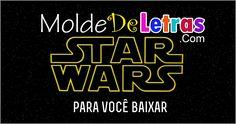 Molde de Letras Star Wars Mais
