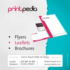 We Design and Print Professional and Bespoke Leaflets/Flyers nationwide in all sizes. Kent London, Compliment Slip, Leaflets, Watford, Leeds, Brochures, Compliments, Branding, Touch