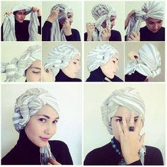 pretty and very simple turban tutorial