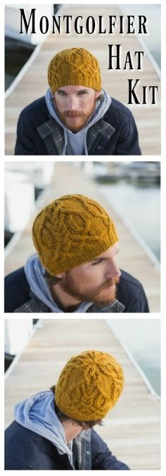 Learn about this gorgeous cabled knit hat, inspired by the Montgolfier brothers, who were pioneers in 18th century hot-air balloon aviation!