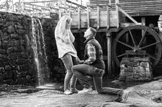 Engagement session proposal have a photographer at your proposal! Raleigh NC North Carolina GloryRoze Photography photog photographer portrait portraits propose mill black and white monochrome on one knee pose poses candid candids