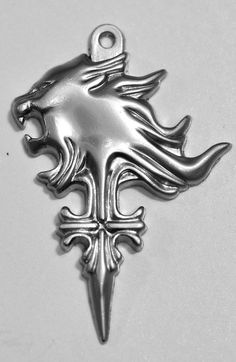 sterling silver final fantasy viii 8 squall Leonhart lion rinoa charm Real Sterling silver 925 dagger sword pendant Charm jewelry. $69.99, via Etsy.