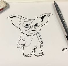 Day 16: wet We decided to draw Gizmo from the Gremlins.
