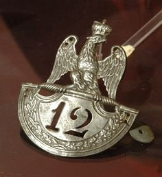 Original plate of the 12th regiment of the line 1812-1815.
