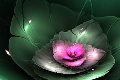 glowing waterlily by sewer-pancake on DeviantArt Fractal Art, Fractals, Aura Colors, Kinds Of Colors, Evening Sky, Facebook Timeline Covers, Funny Tattoos, Wedding Quotes, Art And Technology
