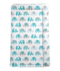 Billie Faiers Turquoise Elephants Baby Changing Mat