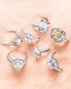 44 Engagement Rings with Brilliant Cut and Color | Martha Stewart Weddings