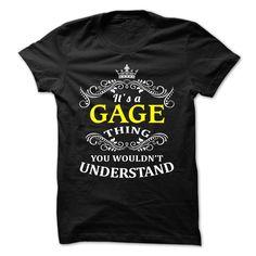GAGE T-Shirts, Hoodies. CHECK PRICE ==► https://www.sunfrog.com/Camping/GAGE-110137829-Guys.html?id=41382