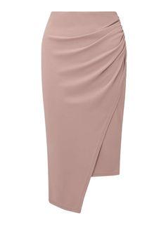 Miss Selfridge sexy nude wrap skirt! Miss Selfridge sexy nude wrap skirt! Satin Pencil Skirt, Pencil Skirt Casual, Pencil Skirt Outfits, Pencil Skirts, Pencil Dresses, African Fashion Skirts, Fashion Dresses, Miss Selfridge, Skirt Patterns Sewing