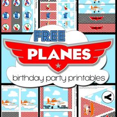 FREE Disney's Planes Birthday Party Printables