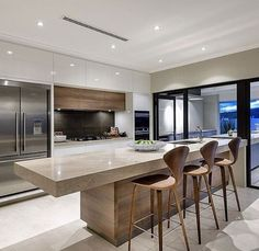 4 Refreshing Tips AND Tricks: Contemporary Chandelier Crystal contemporary kitchen curtains.Contemporary Lamp Home Office contemporary interior square feet. Contemporary Kitchen Design, Interior Design Kitchen, Modern Interior, Contemporary Stairs, Contemporary Building, Contemporary Apartment, Contemporary Wallpaper, Contemporary Garden, Modern Design