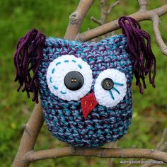 "Calypso the Kooky Owl - Free Amigurumi Pattern  - PDF file click ""download"" or ""free Ravelry download"" here: http://www.ravelry.com/patterns/library/calypso-the-kooky-owl"