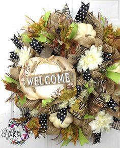 burlap wreath | Burlap wreath