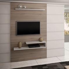 Compre Painel para TV até 55 Polegadas 3056 100% MDF 208 x 130 x 32 Grigio/Montego Blanc - Quiditá em Promoção com ✓ Até 12x ✓ Fretinho