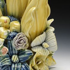 Schaller Gallery : Exhibition : Luscious - lush surfaces, juicy glazes : Kate Maury : Flower Holder