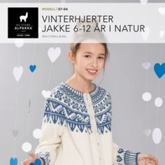 Vinterhjerter jakke i blått – Du Store Alpakka Baby Barn, Girls, Tops, Women, Fashion, Catalog, Nature, Toddler Girls, Moda