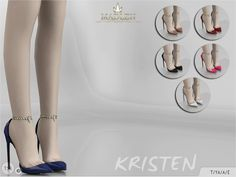 The Sims Resource: Madlen Kristen Shoes by MJ95 • Sims 4 Downloads