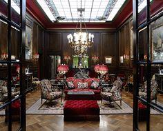 Lobby, Hotel Sacher Wien. Vienna — in Vienna, Austria.