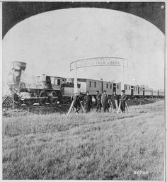 Directors of the Union Pacific Railroad Standing at the 100th Meridian, Later to Become Cozad, 1866