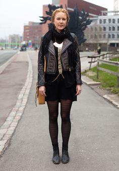 Leena - Hel Looks - Street Style from Helsinki Street Style Blog, Looks Street Style, Street Chic, Street Fashion, Pantyhose Fashion, Fashion Tights, Fashion Outfits, Womens Fashion, Pretty Outfits
