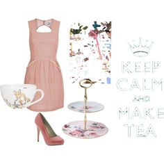 tea party, created by amandanevins.polyvore.com