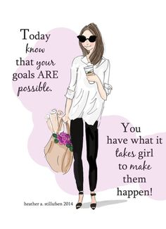 Goals Are Possible Art for Women Wall Art by RoseHillDesignStudio