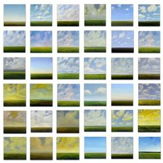 Oil Painting CUSTOM Modern Abstract Sky Cloud Field by JShears