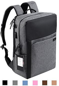 cf5e1e4b51 Ascrown YUANYE Nylon Business and Laptop Backpack Best Leather Backpack