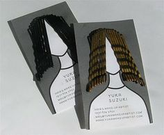 We are all in the gutter: Great Business Cards. Hairstylist.