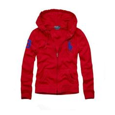 Polo Ralph Lauren Womens Big Pony Pullover Hoodie Red