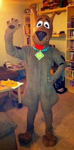 Scooby Doo!! Halloween costume I made with a friend last year.. she did the head and I made the suit. We also made the super awesome feet!